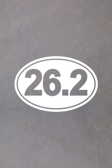 Marathon Oval Decal