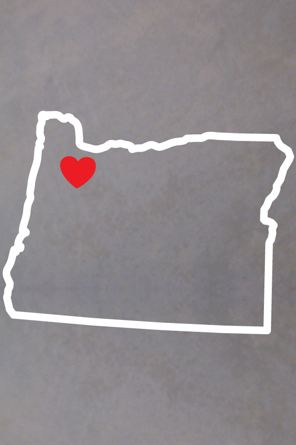Oregon decal Flag Decal outline state of Oregon car decal State Decal Oregon Outline Oregon Flag vinyl decal Vinyl Decal