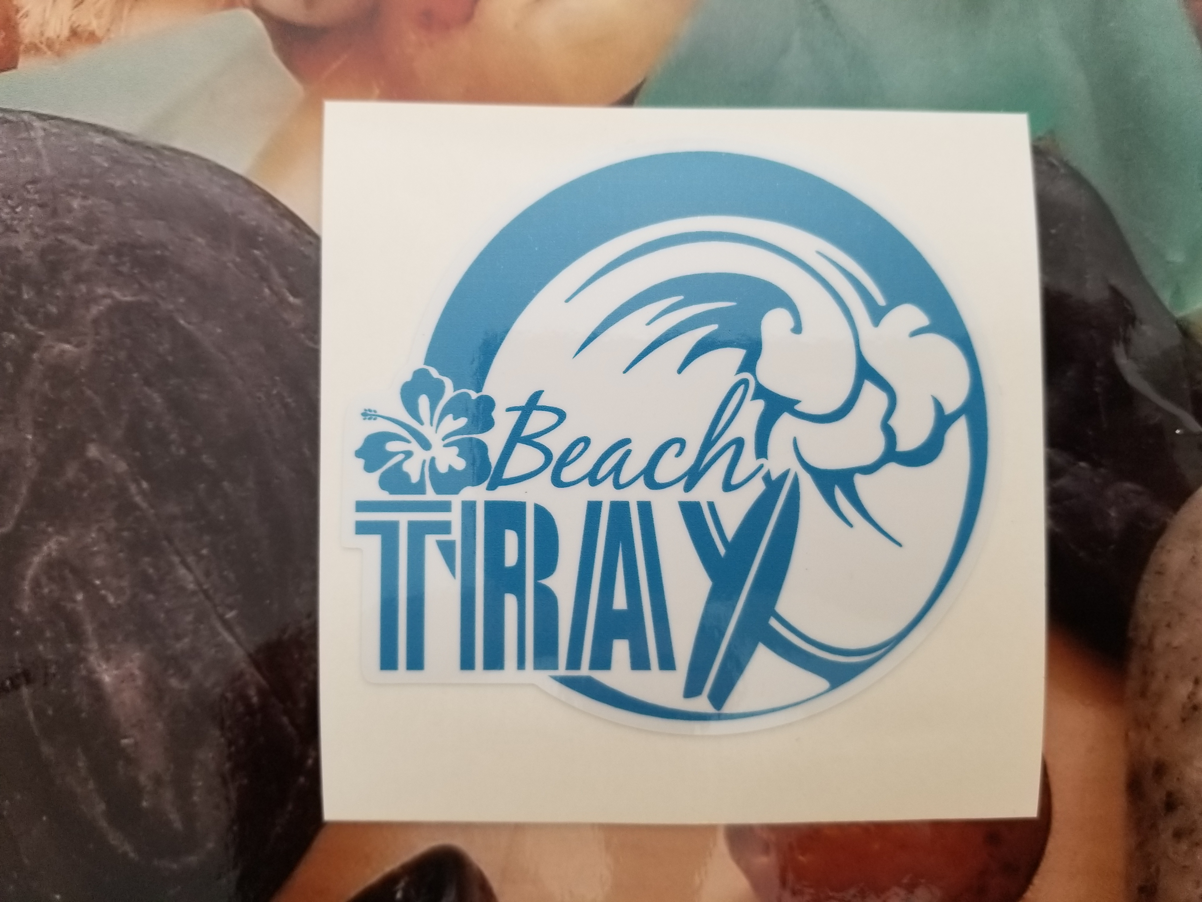 Full color printed and contour cut custom cut stickers